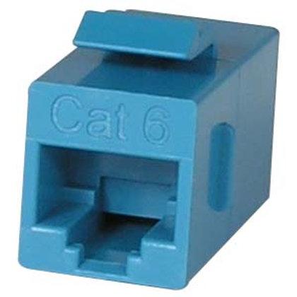 102010BL Cat.6 Inline Coupler w/Keystone Latch Blu