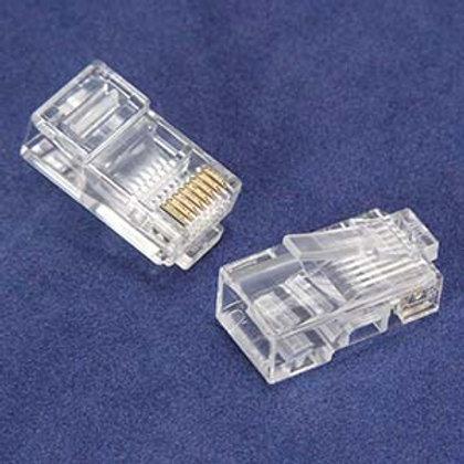 101203-20 RJ45 Cat.5E Plug Stranded 2 Prong 50Micr
