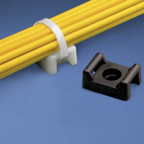 20320WT Cable Tie Mount 22mm White 100pk