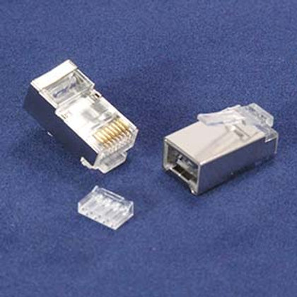 101229 RJ45 Cat.6 Shielded Plug Stranded 50 Micron