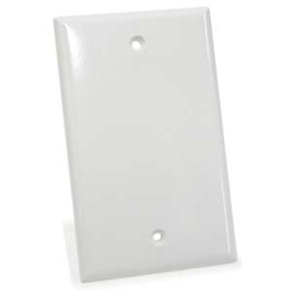 101836WT Blank Wall Plate White Smooth Face