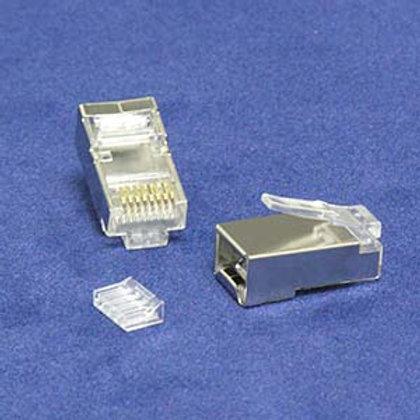 101230 RJ45 Cat.6 Shielded Plug Solid 50 Micron 3-