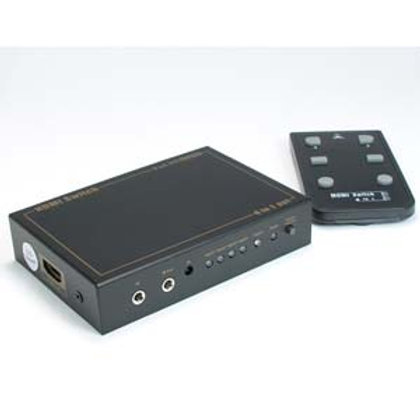 110315 4Way (4-in/1-out) HDMI Switch with IR