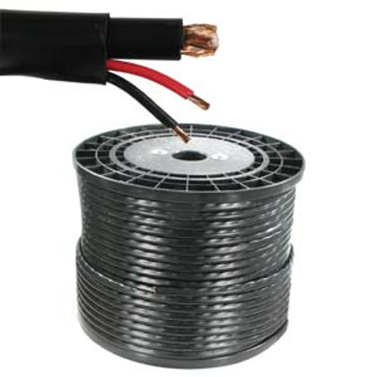 202609BK 500Ft RG59 w/2x18AWG Power Black CM