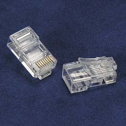 101204 RJ45 Cat.5E Plug for Solid 50Micron 3Prong