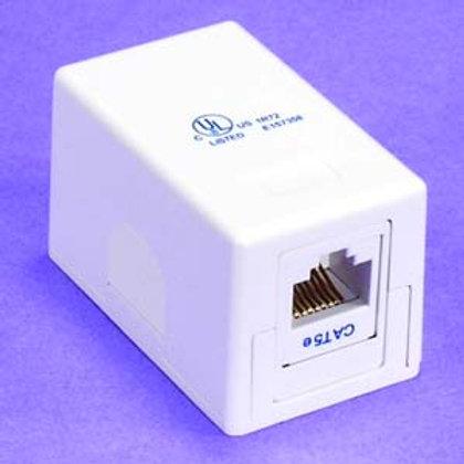 101901WT Cat.5E 1Port Surface Mount Box White w/Ja