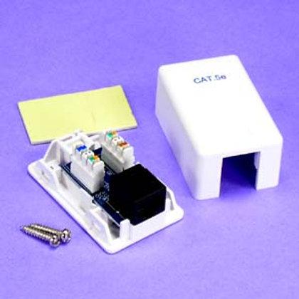 101909WT Cat.5E 1 Port Surface Mount Box White, PC