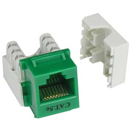 101603GN Cat.5E RJ45 110 Type Keystone Jack Green