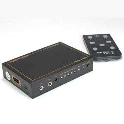 110316 5Way (5-in/1-out) HDMI Switch with IR Exten