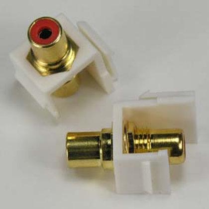 101817RWT RCA Red F/F Keystone Module White