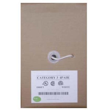 100921WT 1000Ft Cat.3 4 Pair Bulk Wire, CMR White