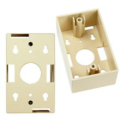 103201IV Surfacemount Box for Wall Plate Ivory