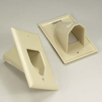 101850IV 1-Gang Recessed Low Voltage Cable Plate