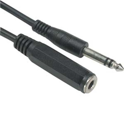 "203152 10Ft 1/4"" Stereo Male/Female Cable"