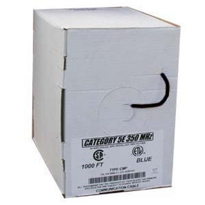 100905BK 1000Ft Cat.5E Solid Cable Plenum Black