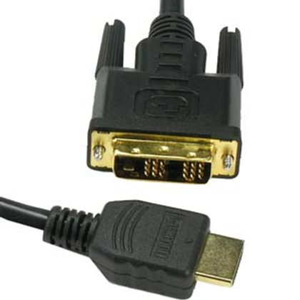 181227 15Ft HDMI Male to DVI-D Single Male Cable