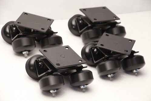 Camera Dolly Wheels Set of 4 Swivel Trucks Big Bearing Flat Plate 16 wheels