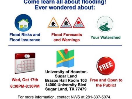 FB County Emergency Management: Flood Warn Seminar  Oct. 17 6:30pm