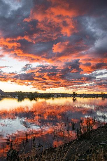 Sunset over Tenterfield Dam