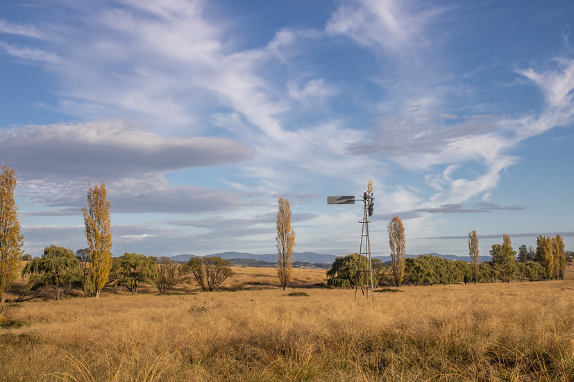 Windmill & Cloudy Sky