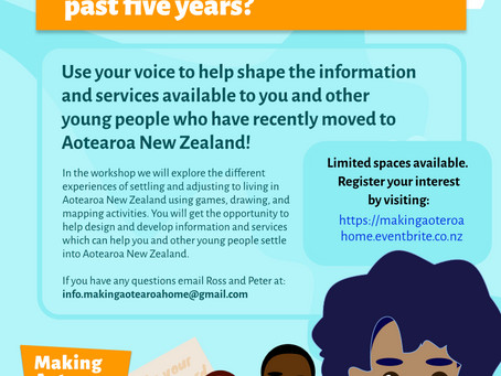 Share your voice! Making Aotearoa Home Workshops