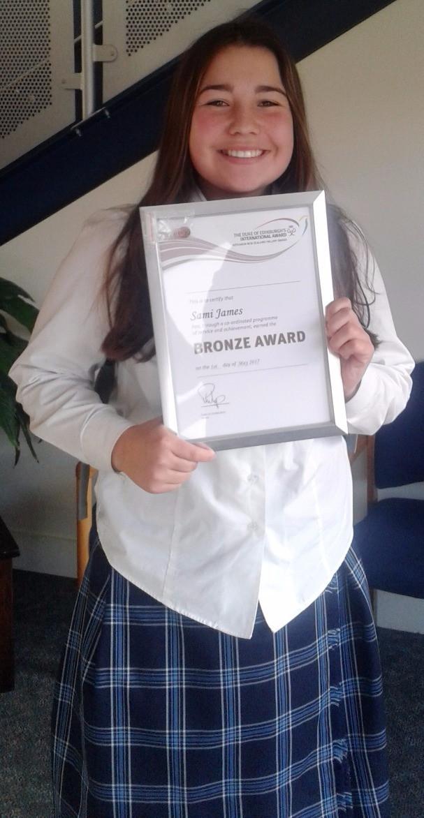 Big congratulations to 'Hall of Famer' Sami James, Karamea Area School & Nelson College for Girls, recipient of the Bronze Duke of Edinburgh's International Award.