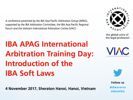 IBA APAG International Arbitration Training Day : Introduction of IBA Soft Laws