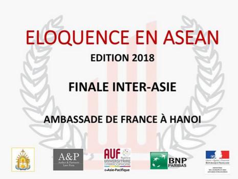 Édition 2018 du concours Éloquence en ASEAN