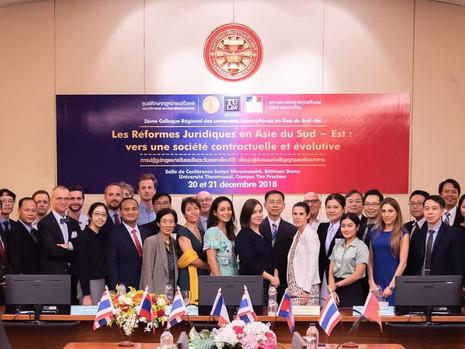 Colloque juridique à l'Université de Thammasat à Bangkok
