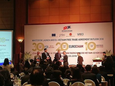 Lancement du 10ème Whitebook de l'EuroCham Vietnam, en amont de l'Accord de libre-échange UE