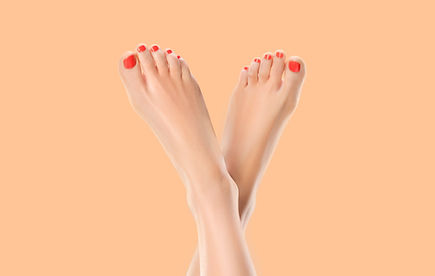 Red Pedicure toes from Annas Salon in Northwood
