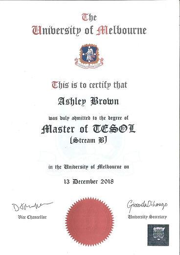 Asheg_Brom_Masters_in_TESOL_Melbourne_Un
