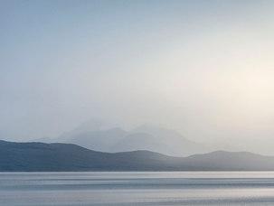 Cuillin rouge sur le Kyle of Lochalsh - Skye