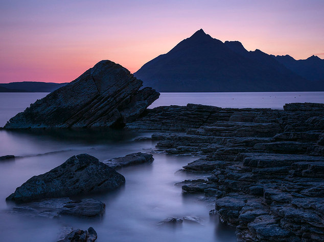 The Black Cuillin over Elgol Rocks