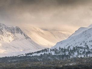 Le Lairig Ghru, l'hiver dans les Cairngorms