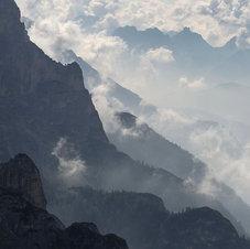 Nuage du matin Tre Cime, Dolomites - Italie