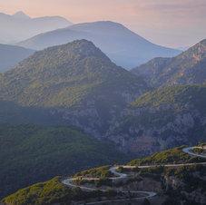 La route de Papigo, Épire - Grèce du Nord