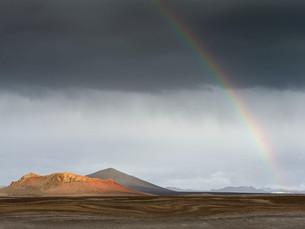 Rainbow Rising - Central Iceland