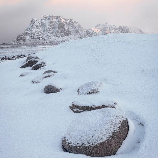 Uttakleiv Snow, Lofoten - Norway
