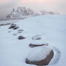Uttakleiv Snow, Lofoten - Norvège
