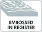 embossed in register icon