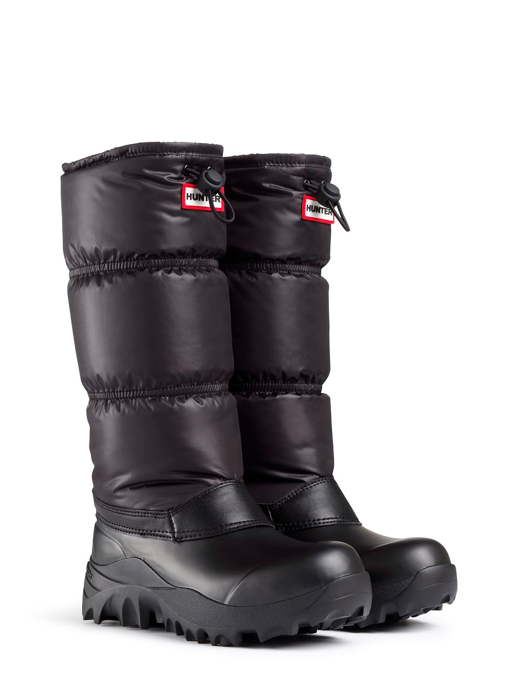 Hunter's Chatel Patent-Trim Canvas Boots