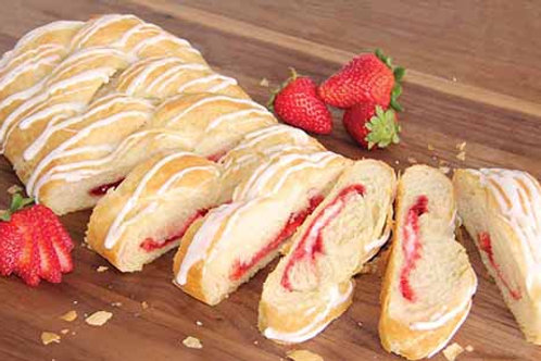 Strawberry Cream Cheese Butter Braid Pastry