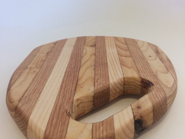 Serving tray made from oak, pine and century old spruce. Finished with safe and edible oils.
