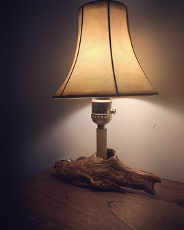 Driftwood and Bamboo Lamp