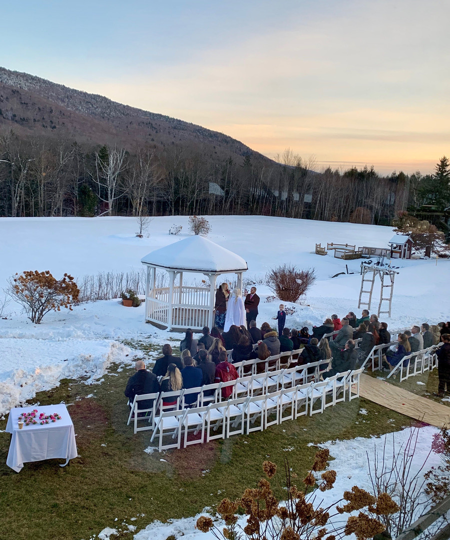 Winter Ceremony by the Gazebo
