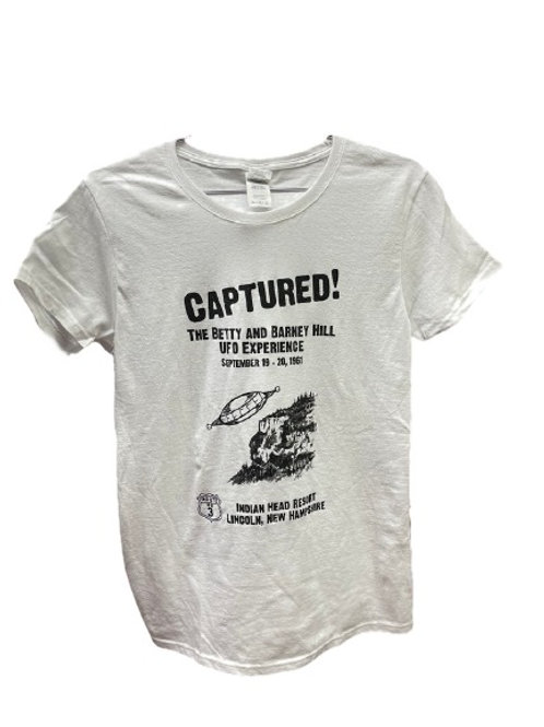 Captured! Betty & Barney Hill Ladies T-Shirt