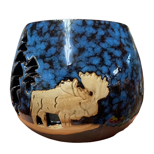 NH Moose Candle Holder