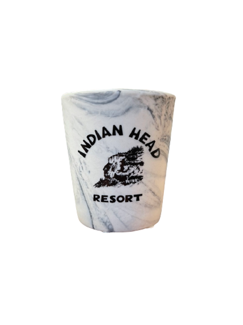 IHR Logo Marble Print Shot Glass