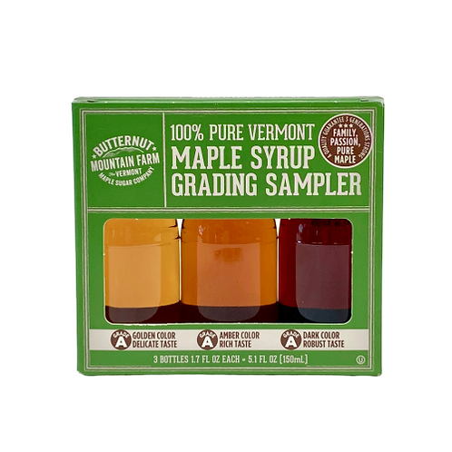100% Pure Vermont Maple Syrup Grading Sampler
